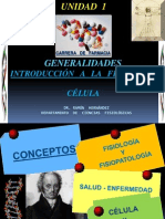 CONFERENCIA 1; INTRODUCCION A LA FISIOLOGIA - CÉLULA   2011