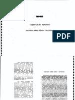 Theodor ANON Discurso Sobre Lirica Y Sociedad