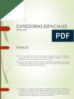 CATEGORÍAS ESPACIALES PRODUCCION