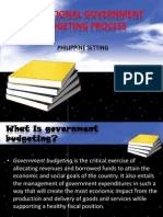 The National Government Budgeting Process