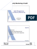 VALUENDO_Audit Perspectives on Security Monitoring (Oct 2006)