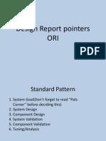 Design Report Pointers