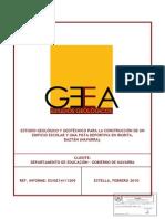 ESTUDIO GEOLÓGICO Y GEOTÉCNICO PARA LA CONSTRUCCIÓN
