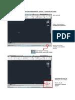 Guia n1 autocad, espacio de trabajo, barras mas utilizadas y creación de layers.