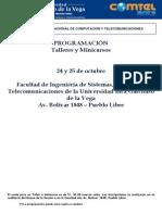 Resumen COMTEL 2013 Programación Conferencias Web Taller - Minicurso