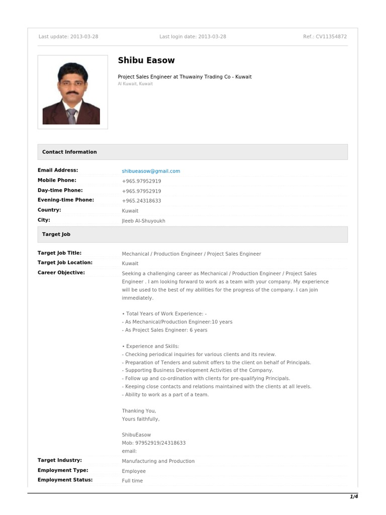 How to write a CV in 4 pages pdf | Petroleum | Employment