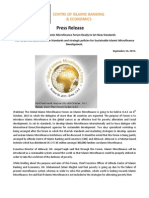Press Release on Global Islamic Microfinance Forum' 2013