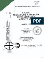 NASA Apollo Lunar Spacesuit Manual