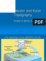 Groundwater and Karst Topography Ch 92