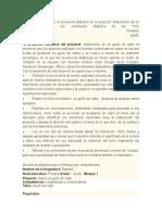 Secuencia Didactica Del Guion de Radio
