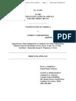 "U.S. v. Andrew ""Weev"" Auernheimer - Government Merits Brief"