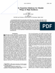 Vorticity Equation Solutions for Slender Wings at High Incidence