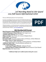 2013 Complete Marching Band and Color Guard Information Forms