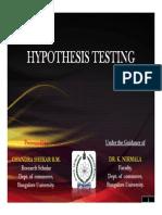Hypothesis Testing Chandru