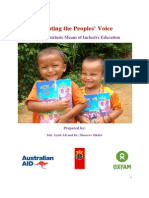 Impact Study Report of Multiligual Education Programme of Oxfam in Bangladesh
