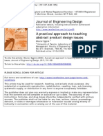 A Practical Approach to Teaching Abstract Product Design Issues