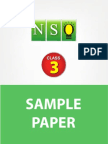 Class 3 Nso 5 Years Sample Paper