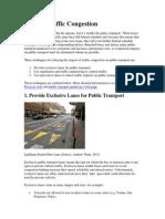 Reduce Traffic Congestion