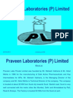 Praveen Labs (P) Ltd Company Profile