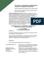 Reglamento Para El Transporte Terrestre de Materiales y Residuos Peligrosos