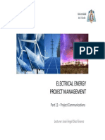 CEESP Electrical Energy Project Management 11 Project Communications