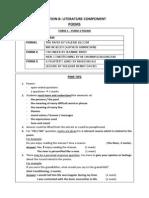 Final Tips for Paper 2 Poem PMR