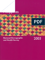 National Demographic and Health Survey Philippine 2003