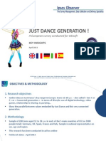 Just Dance Generation_IPSOS study for Ubisoft_2013_KeyInsights_ENG_FINAL....pptx