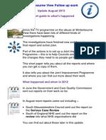 In Short Briefing on Winterbourne Update August 2013