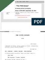 """""""The Fifth Estate"""" Script"""