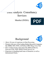 Data Anylysis Consultancy Services India