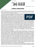 Una nuova europolitica industriale