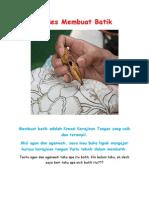 Proses Membuat Batik