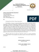 Letter. Super Trade Enterprises