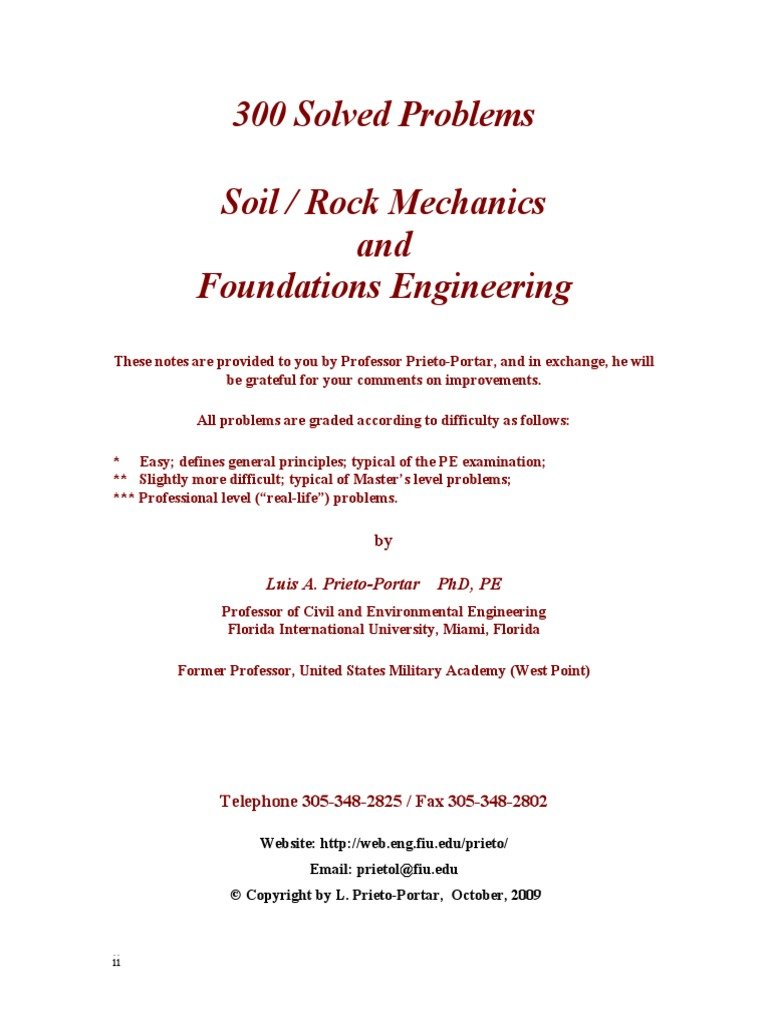 300 Solved Problems in Geotechnical Engineering   Deep Foundation    Foundation (Engineering)