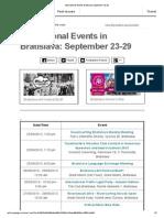 International Events Bratislava September 23-29
