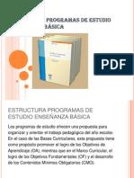ESTRUCTURA PROGRAMAS DE ESTUDIO ENSEÑANZA BÁSICA