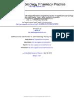J Oncol Pharm Pract 2013 Jarkowski 1078155213476723