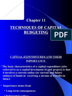 Techniques of Capital Budgeting