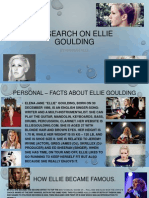 updated Research on Ellie Goulding