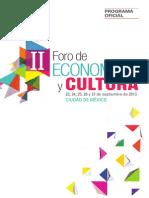 Porgrama_Foro_Economía_y_Cultura_2013