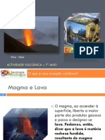 Powerpoint 2 - Erupção Vulcânica