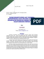 Kajian Bioaktif Spons Laut Forifera Demospongiae