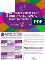 The Draft Child Care and Protection Act for Namibia.