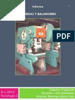 Informe Prensas y Balancines