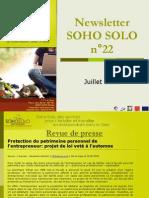 Newsletter Soho Solo n22 Juillet09