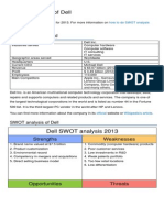 Dell Swot Analysis