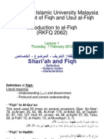 Lecture 1 - Fiqh and Shariah