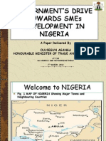 Government_s Drive Towards Smes Development in Nigeria