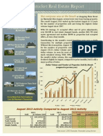 August 2013 Real Estate Market Update